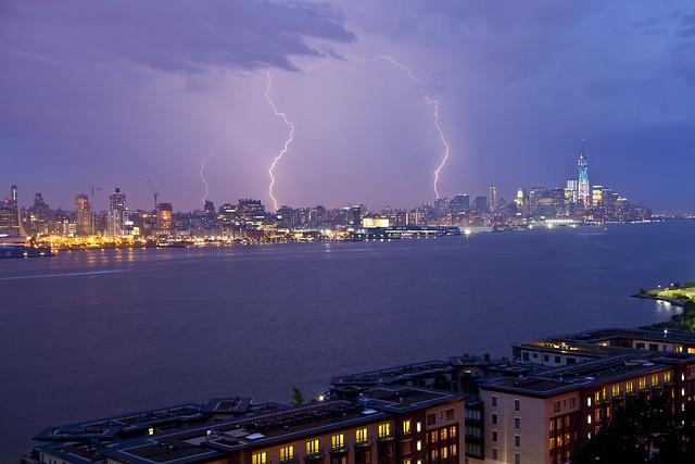Lightning over New York City