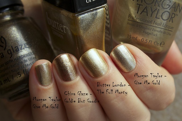 08 Morgan Taylor Give Me Gold swatches comparison copy