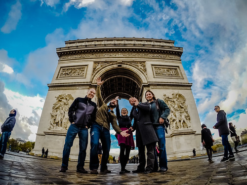 Our rest day at the Arc de Triomphe