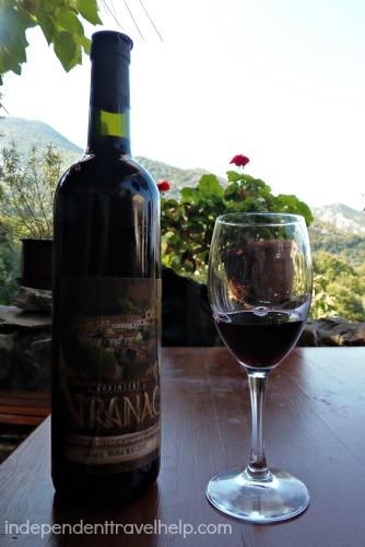 Vranac wine in Godinje