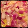 B4 adding meat, sauté the onions & garlic in olive oil & bacon fat for the #IrishStew w/ #Guinness