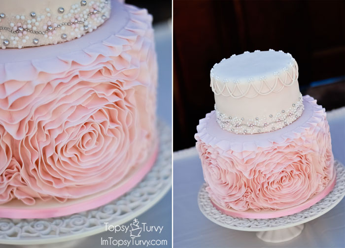 Fondant Rosette Cake Ashlee Marie Real Fun With Real Food