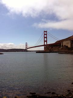 View of the Golden gate Bridge, San Francisco Bay, California.