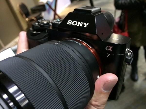 Super light, full frame Sony A7 camera