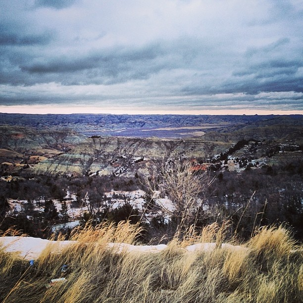 January 28, 2014. Winter Badlands