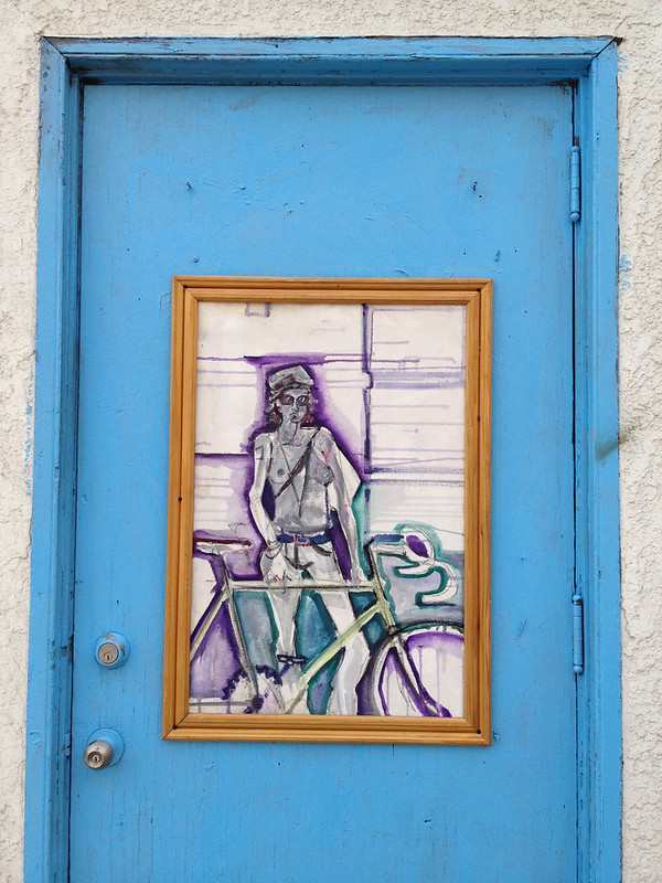 Cyclist at the door