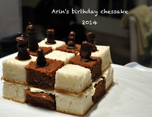 chess cake for the 7 year old! by Taswiir