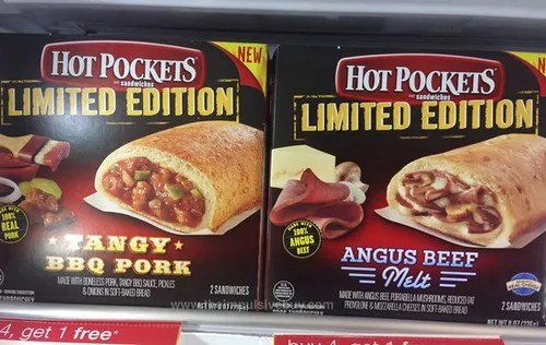 Limited Edition Tangy BBQ Pork and Angus Beef Melts Hot Pockets