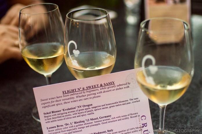 White Wine Flight Cru Sweet & Sassy