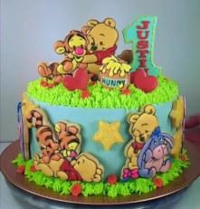 Baby Winnie and Friends cake