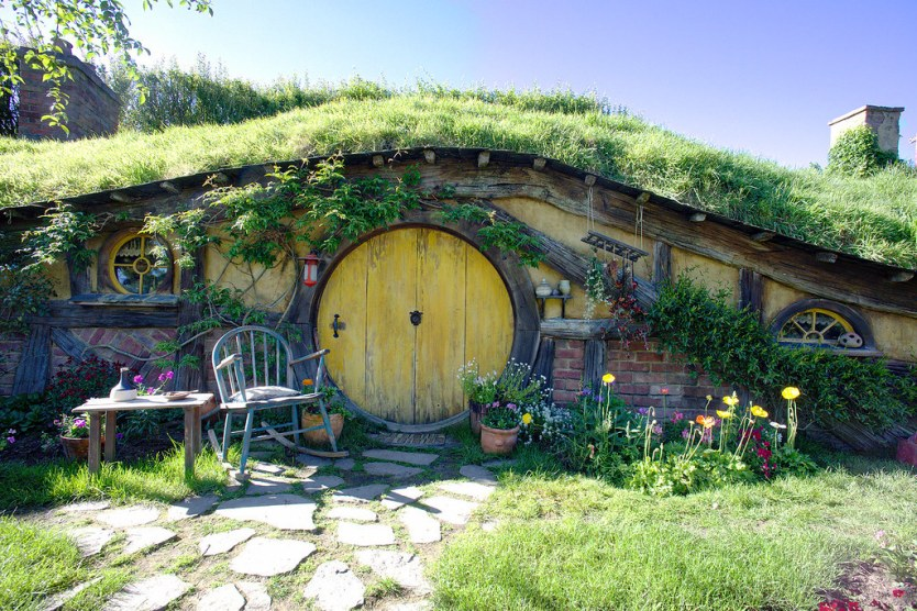 The first stop on the tour and most photographed hobbit house in all of Hobbiton.