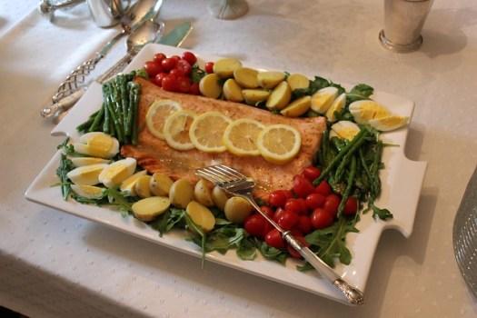 Baby Shower Food: Nicoise Salmon Platter I Made