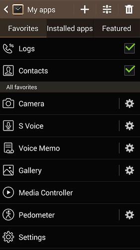 เลือกลำดับก่อนหลังของ App บน Galaxy Gear และตั้ง Settings ได้