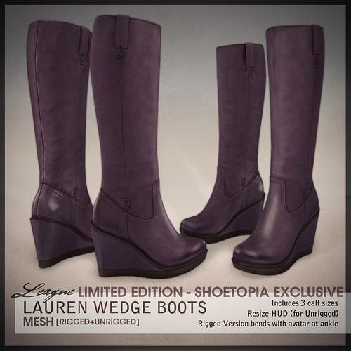 *League* Lauren Boots -Purple