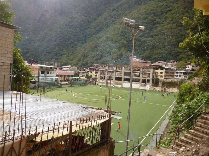 Football field in Aguas Calientes