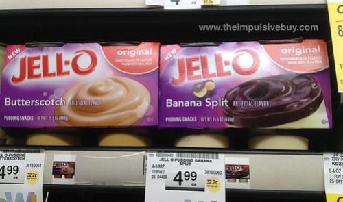 Jello Butterscotch and Banana Split Pudding Snacks