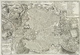 Madrid, par N. de Fer Geographe de Monseigneur le Dauphin, 1705