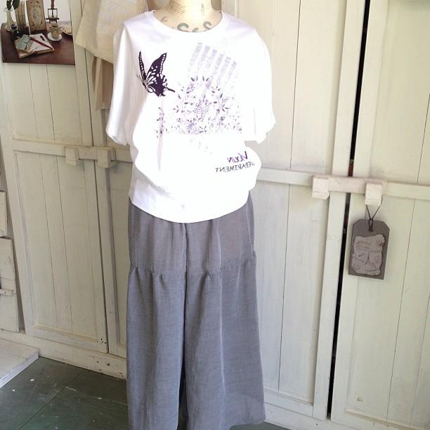 キュロットパンツに、オリジナルTシャツ、暑い夏にピッタンコ!(^^)