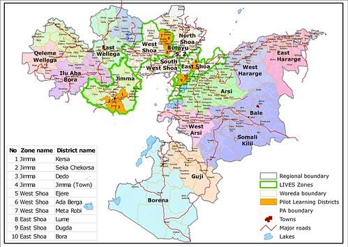 Administrative units LIVESEthiopia