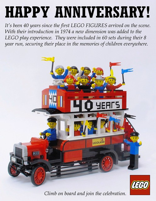 Lego Figure 40th Anniversary Bus
