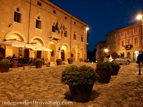 Verucchio at night