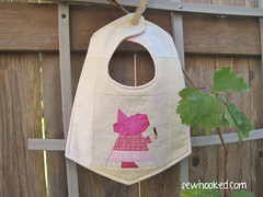 Wee Witch Reversible Bib, front