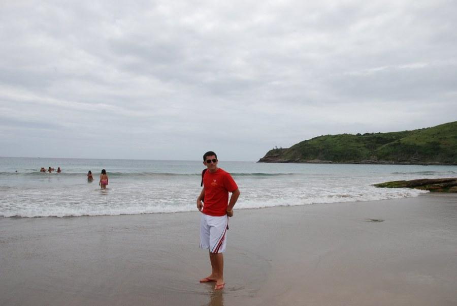 Yo en la playa de Buzios