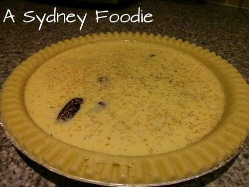 Lorraine's date tart - pre baking