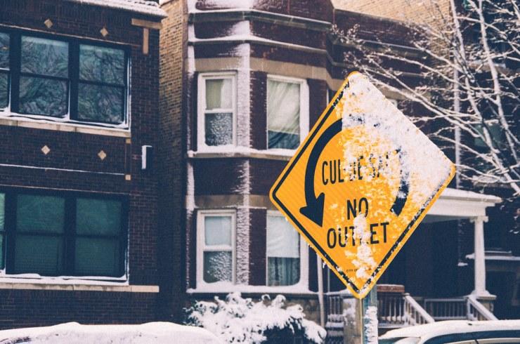 snowy sign