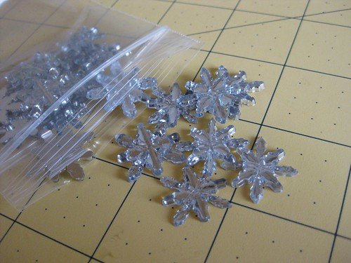 Shiny Snowflake buttons