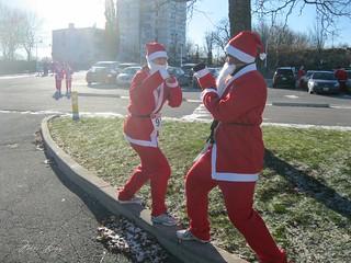 Santa boxing