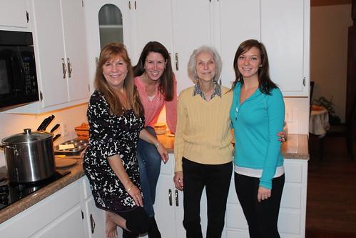 Kerry, me, Peggy & Richelle