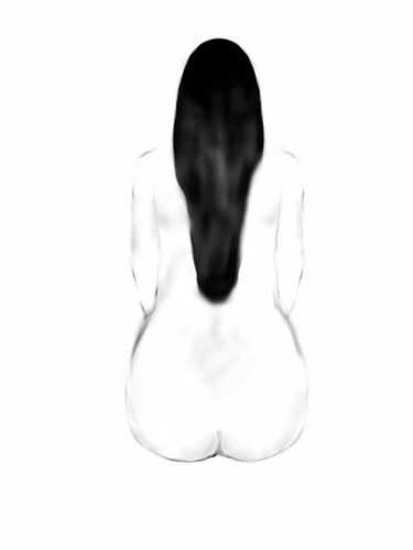nude from back by doodle_juice
