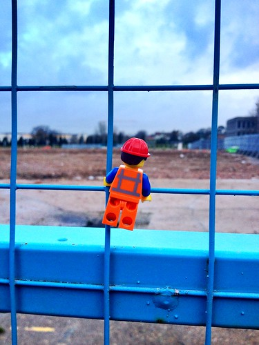 Emmet checks out the bracknell regeneration site