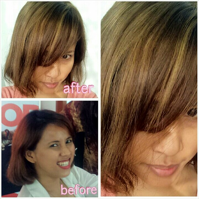 hair makeover at maldita studio