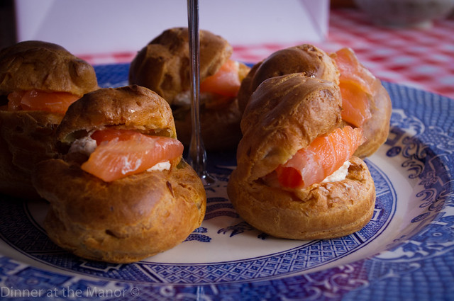 Salmon Choux Buns