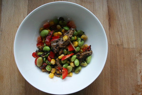 Edamame salad by the james kitchen