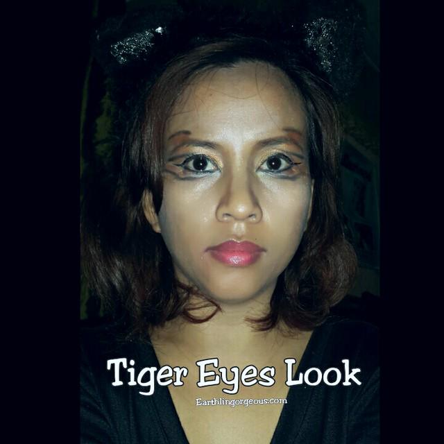 Earthlingorgeous.com Tiger Eyes FOTD