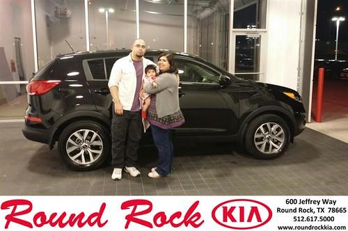 Congratulations to Celeste Rendon on your #Kia #Sportage purchase from Eric Armendariz at Round Rock Kia! #NewCar by RoundRockKia