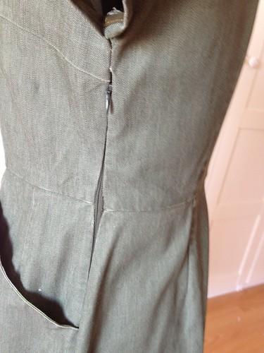 Simplicity green denim 5723 side zipper
