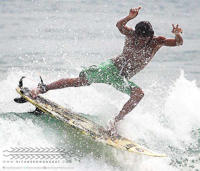 John Louie Farinas Tagadagat Surfer San Antonio Zambales in GUbat Sorsogon