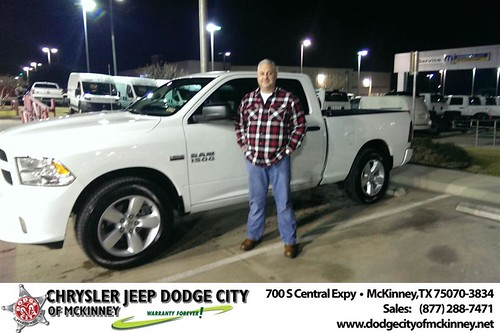 Thank you to Edward Roberts on your new 2014 #Ram #1500 from Joe Ferguson  and everyone at Dodge City of McKinney! #NewCarSmell by Dodge City McKinney Texas