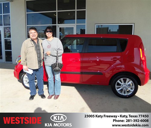 Happy Anniversary to Perla Molina on your 2013 #Kia #Soul from Mohammed Ziauddin and everyone at Westside Kia! #Anniversary by Westside KIA