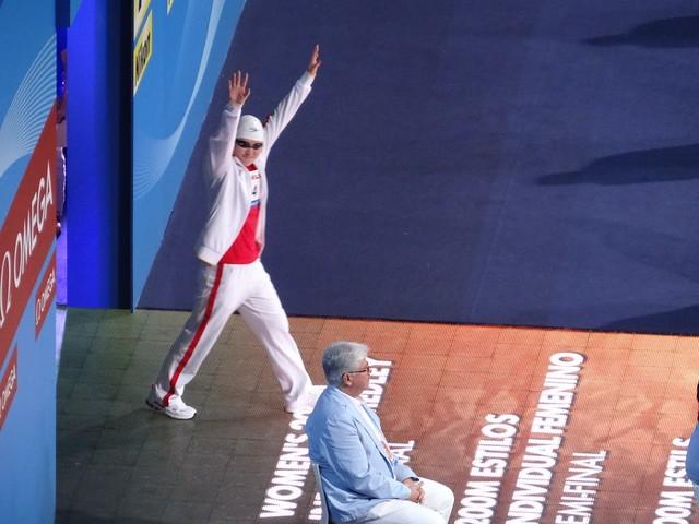 Ye Shiwen enters the BCN2013 arena