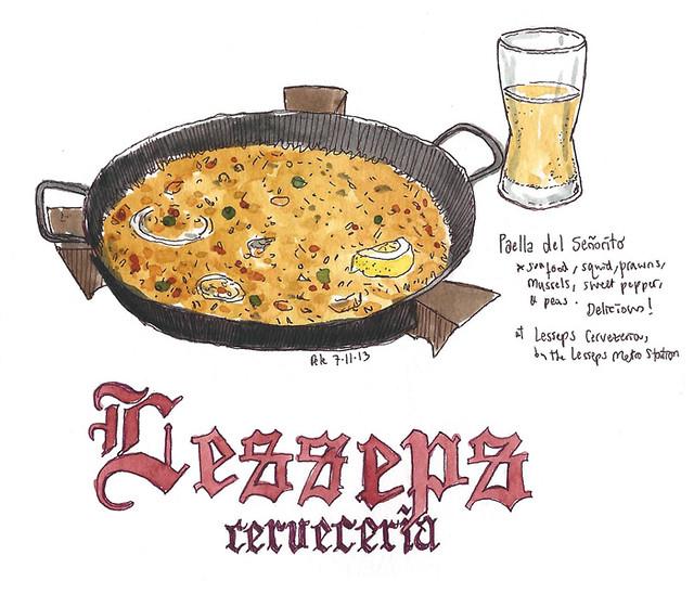 Cerveceria Lesseps Paella, Barcelona