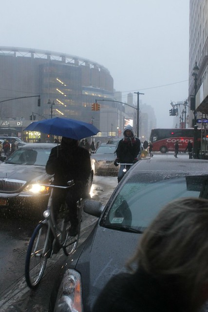 Snow #bikeNYC Dutch Style