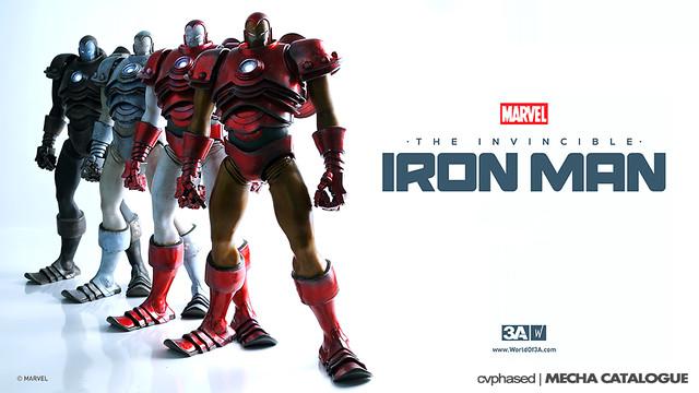 threeA x Marvel - The Invincible Iron Man - Colored Prototype Shots