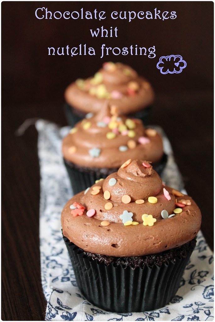 Cupcakes chocolate nutella
