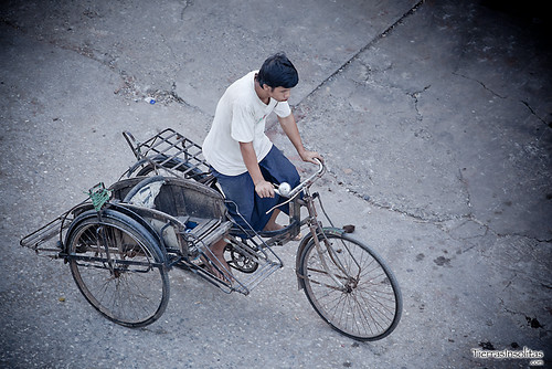 Rickshaw en Myanmar