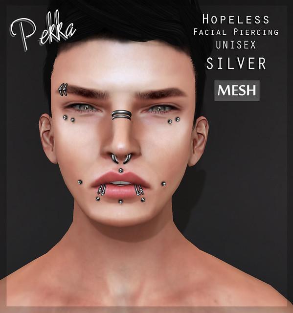 pekka hopeless unisex piercing silver